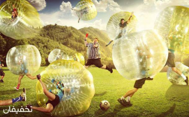 بازی فوتبال حبابی
