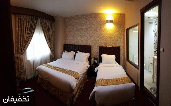 هتل سه ستاره شارستان ویژه اقامت فولبرد(صبحانه،ناهار،شام) به ازای هر نفر  تا ۳۵% تخفیف