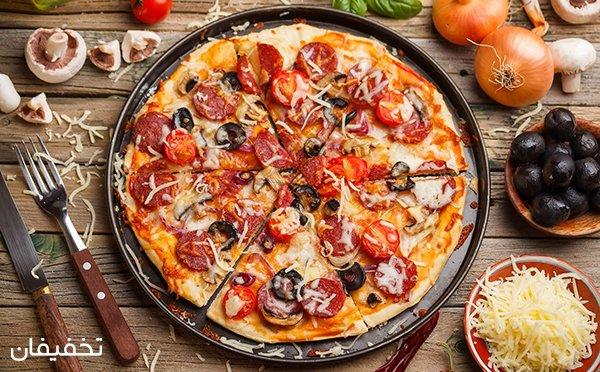۴۰% تخفیف پیتزا های خوش طعم فست فود حلما